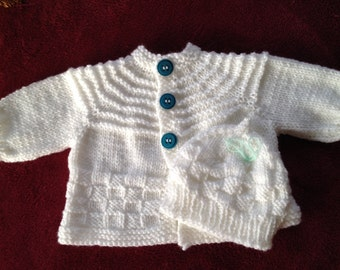 White Baby Sweater and Hat