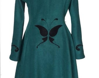 """Elfrith"" elven fairy jacket coat large hood polar oil Sanlivine"