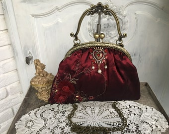 Bag, evening bag, bag, bow bag Opera