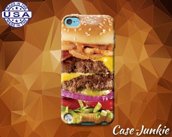 Cheeseburger Food Burger Funny Cheese Hamburger Case iPod Touch 4th Generation or iPod Touch 5th Gen or iPod Touch 6th Gen