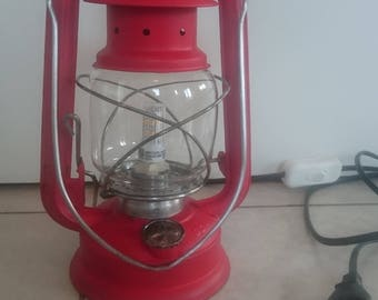 Vintage Lantern Light, Lantern Lamp, Kerosene Lantern, Electric Lantern, Table  Lamp,