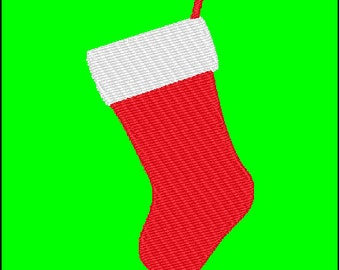 Stocking Christmas Embroidery Pattern Design