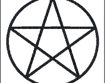 Pentacle Pagan Wicca symbol Embroidery Design