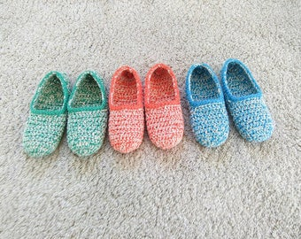 Women slippers, crochet slippers, gift for women, spring gift, gift for her, women gift, birthday gift, natural cotton, slippers