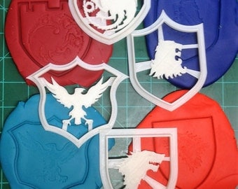 Game of Thrones Stark, Lannister, Nights Watch, and Targaryen Cookie Cutters
