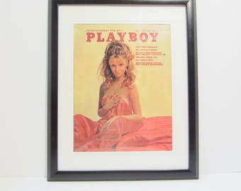 Vintage Playboy Magazine Cover Matted Framed : May 1970 - Phyllis Babila