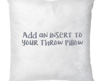 Small Fiber Insert for Throw Pillow