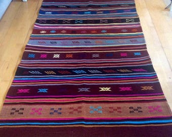 Handmade Moroccan striped Berber rug/carpet