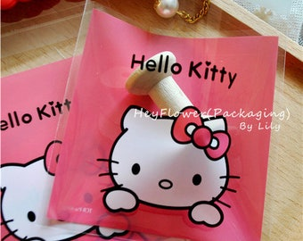 100pcs hello kitty cellophane plastic packaging /cookie gift biscuit candy bag /party wedding baby shower