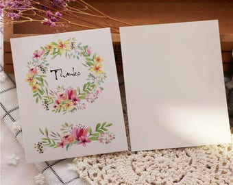 50pcs flower cards/Wedding Invitation card,greeting card,thank you cards