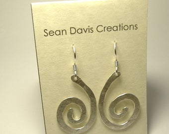 Sterling Silver Spiral Earrings E-28 (lg)