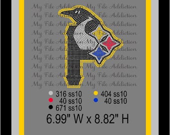 Instant Download Rhinestone SVG EPS Design File Pittsburg Steelers Penquins Pirates