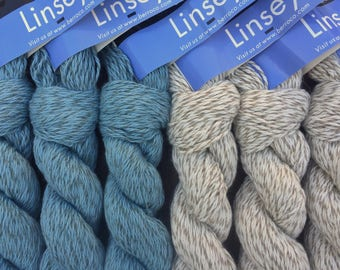 Berroco LINSEY 8.99 +1.25ea to Ship - Cotton Linen Yarn Natural - Shell 6656 - Soft, Smooth, Cottony. Great for Sensitive Skin.
