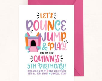 Bounce House Party / Bounce House Invitation / Bounce House Birthday / Bounce Jump Play Inivte / Digital / Bounce Birthday / Jump Invitation