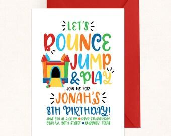 Bounce House Invitation / Bounce House Party / Bounce House Birthday / Bounce Jump Play / Digital / Bounce Birthday Invite / Jump Invitation