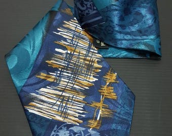 Vintage Silk Necktie,Arty work ties, Christian Armand tie