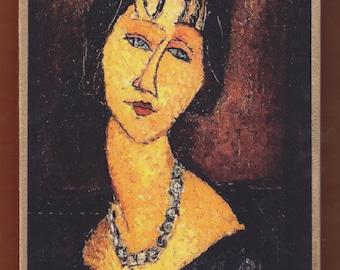 Amedeo Modigliani - Portrait de Jeanne Hébuterne au Collier.