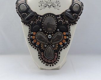 "Beaded Necklace ""Color of the Night"""