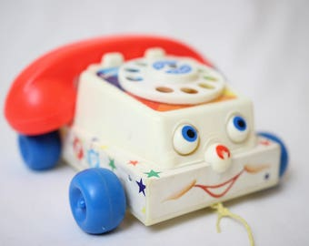 Phone fisher price, fisher price toy, vintage toy, vintage phone,