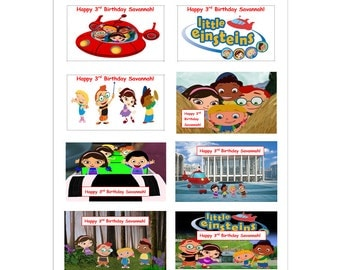 8 PERSONALIZED Printed Little Einsteins Stickers, Birthday Party Favors, labels, rewards, decals, custom made