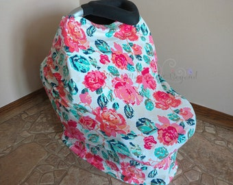 4 in 1 Multi - purpose cover, car seat cover, nursing cover, shopping cart cover, restaurant high chair cover