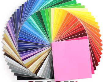 Oracal 651 Glossy Vinyl 61 - 12 x 12 Sheets Assorted Colors