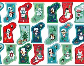 Frosty mini stocking advent Panel