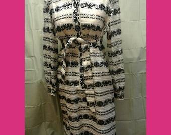 Free Shipping Vintage 1960s Shirt Dress