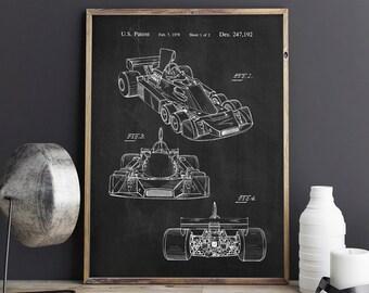 Speed Car Patent, Formula One Racing Car, Speed Car Poster, Patent Print, F1 Car Patent, Automobile Decor- DA0724