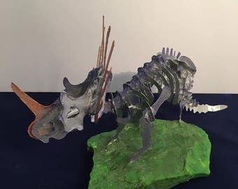 Styracosaurus metal Skeleton