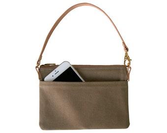Mini Canvas Clutch, Wristlet, Pouch, Handbag, Gift Ideas