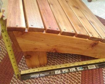 Adirondack footrest, Adirondack ottoman, Adirondack footstool, cedar ottoman, cedar footrest, cedar footstool