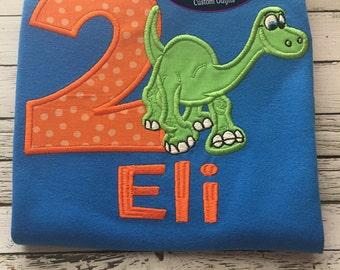 Good Dinosaur birthday shirt! Arlo birthday shirt! All birthday numbers available! Personalized!