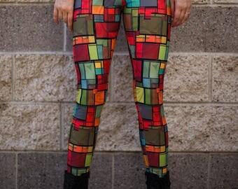 Colored Windows Leggings (size Medium)