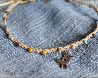 Beaded Crochet Jewelry, Crocheted Bead Anklet, Boho Beach Jewelry, Crochet Beaded Anklet, Crocheted Jewelry, Handmade Anklet, Bead Anklet