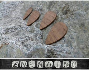 4 WOODEN GUITAR PICKS/Guitar pick/Personalized guitar pick/Guitar pick custom/Wooden guitar pick/Wooden picks/walnut/wood Plectrums/ash wood