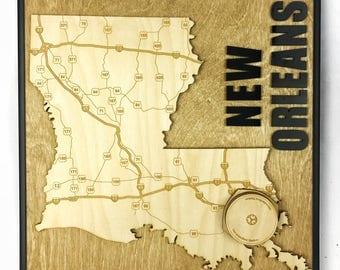 Stadium State Shape - Louisiana, New Orleans (Mercedes-Benz Superdome)