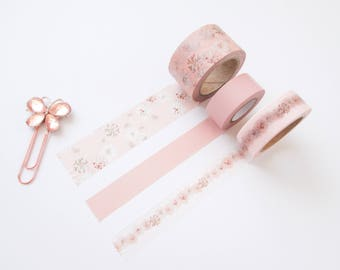 Blush Floral Washi Pair