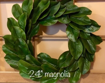Magnolia Wreath, Fixer Upper Decor, Farmhouse Wreath