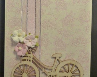 Floral Bicycle Birthday Card 1537