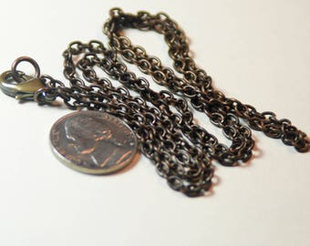Antique Brass Chain Lobster Clasp 26 Inch