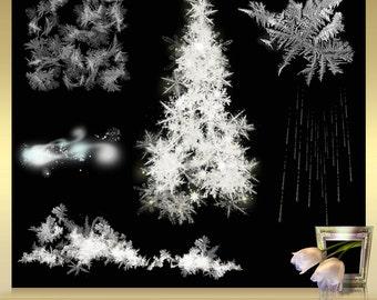 7 winter overlays vol. 3 Frost digital overlays - snowflakes overlays - snow overlay - winter frost overlays - instant download