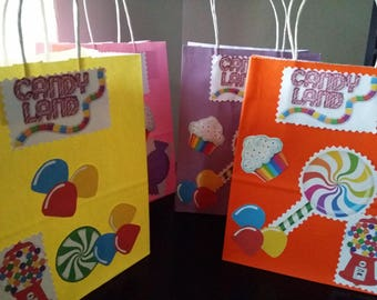 Candyland party bags