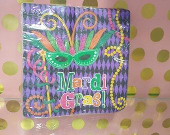 Mardi Gras Luncheon Napkins/Mardi Gras Paper Napkins/Mardi Gras Party Supplies/Mardi Gras Theme Plates