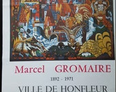 French Vintage Art Exhibition Poster  Marcel Gromaire  Art Poster   1972