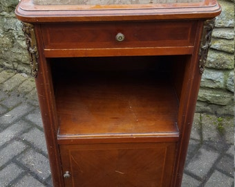 REDUCED -French Vintage Nightstand / Pot Cupboard / Bedside Cabinet