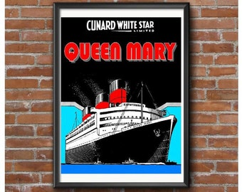 Queen Mary 1937 Poster