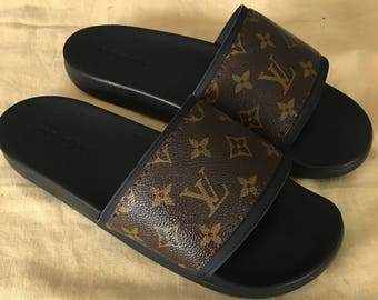 Handmade Louis Vuitton Slides