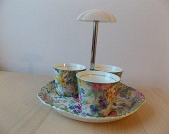 1930s Midwinter Chintz Egg Cup Set