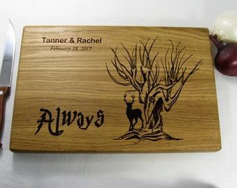 Personalized Wedding Gift Always Harry Potter Wedding Gifts for couple Personalized Willow Tree Gift Cutting Board